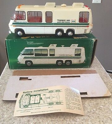 Vintage Hess Training Van In Box With Inserts And Battery Card Working Lights