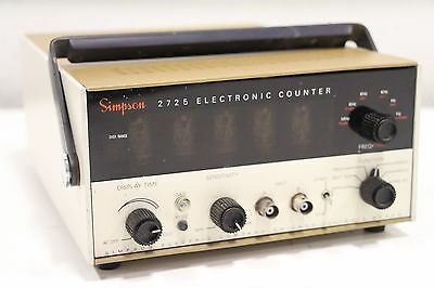 Vintage Simpson 2725 Universal Frequency Electronic Counter + Free SH