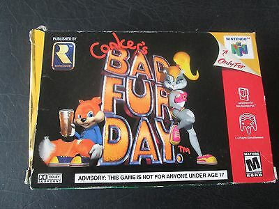 Nintendo 64 N64 Conker's Bad Fur Day Box Only *No Game*