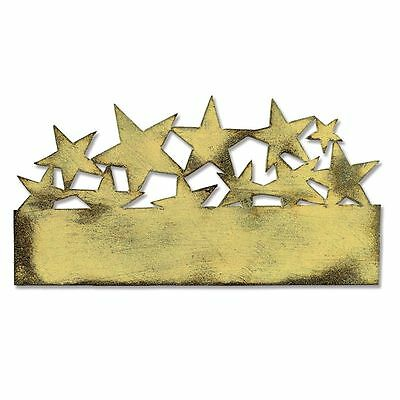 "Tim Holtz Metal Die Cut Star Cluster Approximately 2 5/8""x3 3/4""x1/8"""