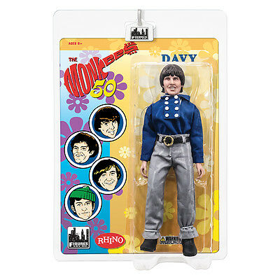 The Monkees 8 Inch Mego Style Action Figures: Blue Band Outfit: Davy Jones