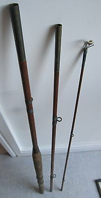 Modern Arms Company The Barton Greenheart 3 section 8.5ft Vintage Fishing Rod