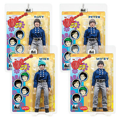 The Monkees 8 Inch Mego Style Action Figures: Blue Band Outfit: Set of all 4