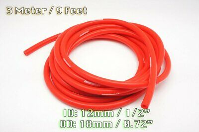 3 Meters Red Silicone Vacuum Hose Air Engine Bay Dress Up 12Mm Fit Mini Saab