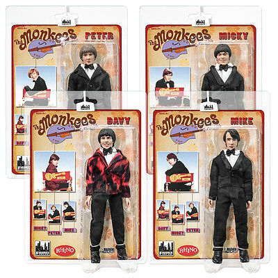 The Monkees 8 Inch Mego Style Action Figures Tuxedo Outfit: Set of all 4