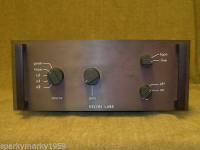 Kelvin Labs,  Class A Phono stereo integrated amplifier, classic, rare