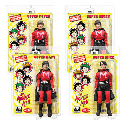 The Monkees 8 Inch Mego Style Action Figures: The Monkee Men Set of all 4