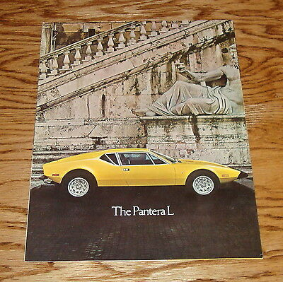 Original 1973 Ford DeTomaso Pantera L Facts Features Sales Folder Brochure 73