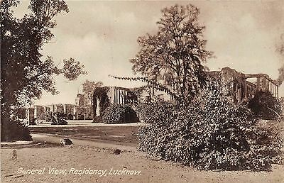 POSTCARD   INDIA    LUCKNOW   General   View    Residency      RP        TUCK
