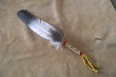 native american style hand painted imitation eagle smudge  feather