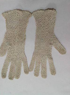 Vintage Ladies Delicate Crochet Evening Gloves Collection Of 3 Cream And Black