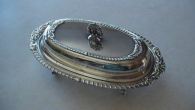 Attractive Vintage Sheridan Silver Plated Covered Butter Dish