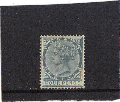 "TOBAGO 1885-96 -  SG 22b MALFORMED ""CE"" IN PENCE WATER MARK CROWN CA CAT. £90+++"