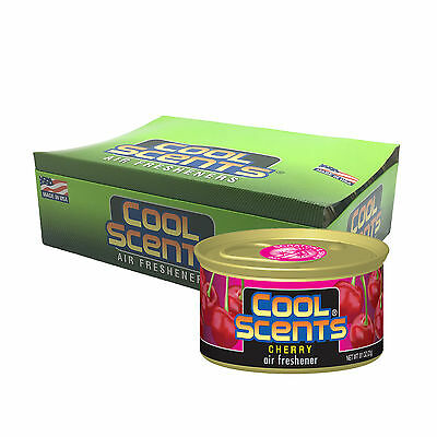12 x California COOL Scents Car Home Air Freshener Freshner Tin Can - CHERRY