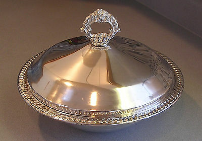 Silver Plated VINTAGE FB Rogers Serving Dish Bowl w/ Lid