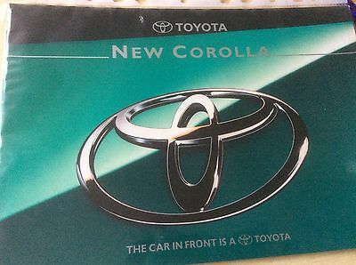 TOYOTA  NEW COROLLA  SALES BROCHURE  JULY  1995  #ToyCol01