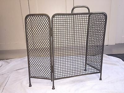 Antique Brass Edwardian circa 1910 ? Folding Spark Screen UK buyers only
