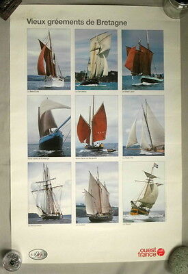 Classic Boats Breton rigs Poster nautical photo