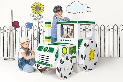 Toy Tractor Childrens Toy Cardboard Car Kids Construction Ride-on