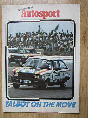 Talbot on the Move,  Autosport Supplement.  February 1980