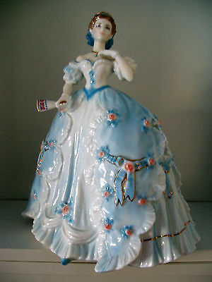 Beautiful Royal Worcester Ltd Edt Figurine - 'the First Quadrille' ..