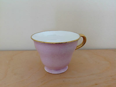 Coalport  COFFEE CUP - pink - very good condition