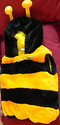 Bumble Bee fleece vest with hood fully lined size 12-24 months