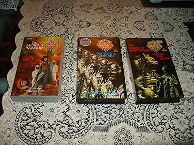 Bundle of 3 Classic Doctor Who videotapes Starring Tom Baker from 1975 and 1977