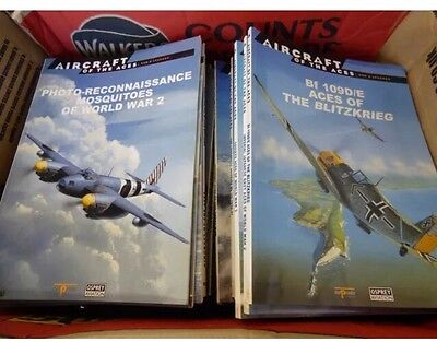 ** AIRCRAFT OF THE ACES JOB LOT #1-60 BOOKS SPITFIRE to BRITISH EMPIRE **
