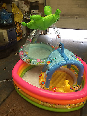 inflatable pool, ball pit, play pit. three seperate items, new returns, job lot