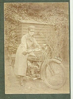 Transport photo Motorcycle Motorbike Reg BL 6119 girl despatch rider military