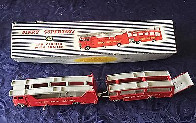 Dinky Supertoys 983 Car Carrier and Trailer