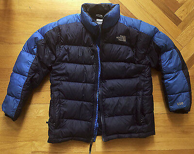 The North Face Boys Nuptse 550 Fill Puffer Down Jacket Coat, Large 14/16