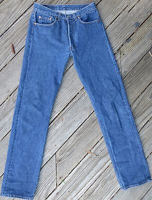 Vintage 1980's Levi's 501 button fly denim hi waist jeans W 30 Made in USA