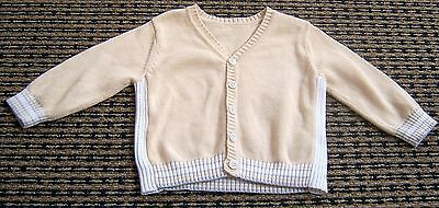 Mothercare (Uk)  Baby Boys Cotton Cardigan  Sz 3 - 6 Months