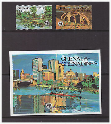 Grenada Grenadines 1984 Stamp Exhibition  mint set & sheet SG624-626