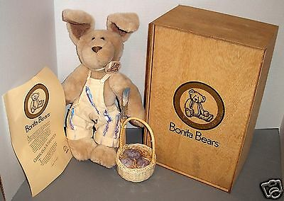 """First Edition Limited Collection """"Bonita Bunny"""" in Original Wooden Box with COA"""