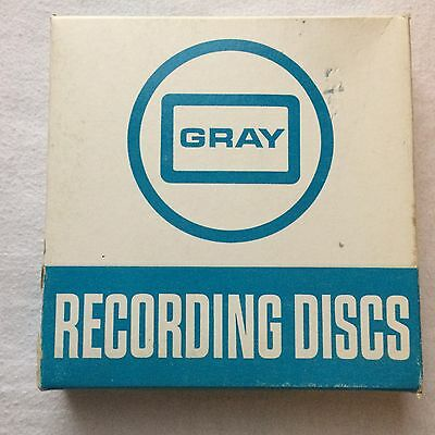 "NIB 7"" GRAY Recording Discs for Audograph/Phonaudograph/Keynoter 20 Min. Blue"