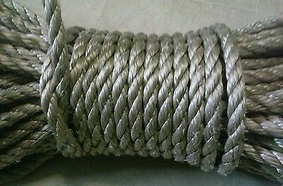 120 feet of 1/2 inch high impact fall arrest rope(VERY STRONG ROPE) tan/brown