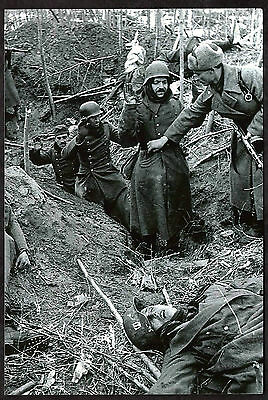 Ww2-Reprint Photo-German Soldiers Captured By Russian Soldiers