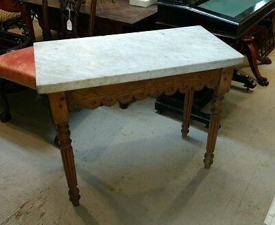 Antique Marble Top Baker's ?  Table or Console