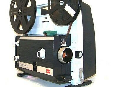 ELMO GP-E SUPER 8 & STD 8mm SILENT CINE FILM REEL MOVIE PROJECTOR.