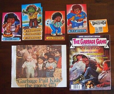 Garbage Pail Kids Gang Movie Collectible LOT Magazine Promo Cards Newspaper RARE