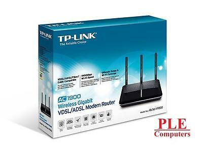 TP-LINK Archer VR900 AC1900 Wireless Dual Band VDSL/ADSL Modem Router[VR900]
