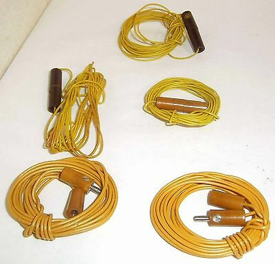 Lot of 5 Lengths of Yellow Wire with Marklin Plugs & Sockets