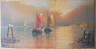 2000 piece Victory Gold Box Wood Jigsaw puzzle Red Sails at Sunset