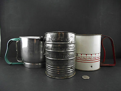 3 Vintage Flour Sifters Ready 4 Your Kitchen Display Bromwells Handiswift Foley