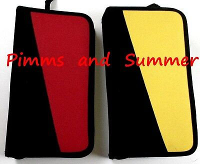 2 x 96 CD Zip Case RED BLACK YELLOW Carry STORE