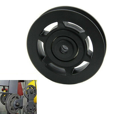 Universal 95mm Black Bearing Pulley Wheel Cable Gym Equipment Part Wearproof