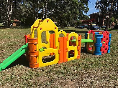 Double PLAY GYM / CUBBY HOUSE / SLIDE OUTDOOR KIDS PLAY EQUIPMENT Sprinkler Bar